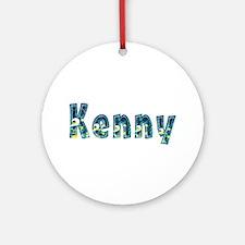 Kenny Under Sea Round Ornament