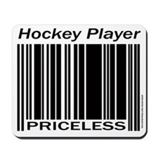 Priceless Hockey Player Mousepad