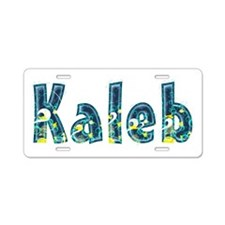 Kaleb Under Sea Aluminum License Plate