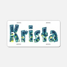 Krista Under Sea Aluminum License Plate