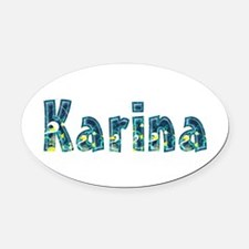 Karina Under Sea Oval Car Magnet