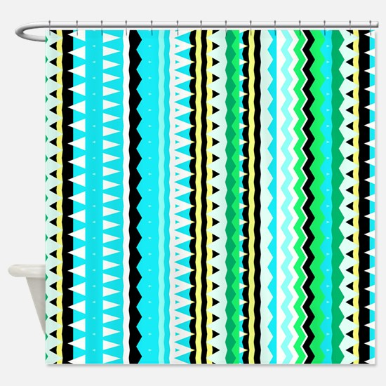 Forever Young #3, Aztec Shower Curtain
