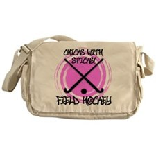 Chicks with Sticks - Field Hockey Messenger Bag