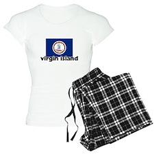 I HEART VIRGIN ISLAND FLAG Pajamas