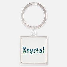 Krystal Under Sea Square Keychain