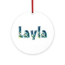 Layla Under Sea Round Ornament