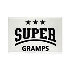 Super Gramps (Black) Rectangle Magnet