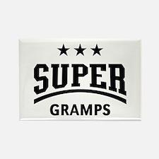 Super Gramps (Black) Rectangle Magnet