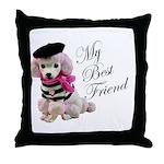 My Best Friend Throw Pillow