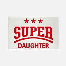 Super Daughter (Red) Rectangle Magnet