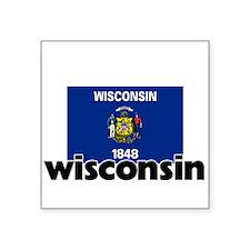 I HEART WISCONSIN FLAG Sticker