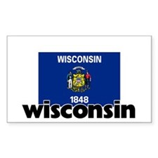 I HEART WISCONSIN FLAG Decal