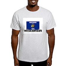 I HEART WISCONSIN FLAG T-Shirt