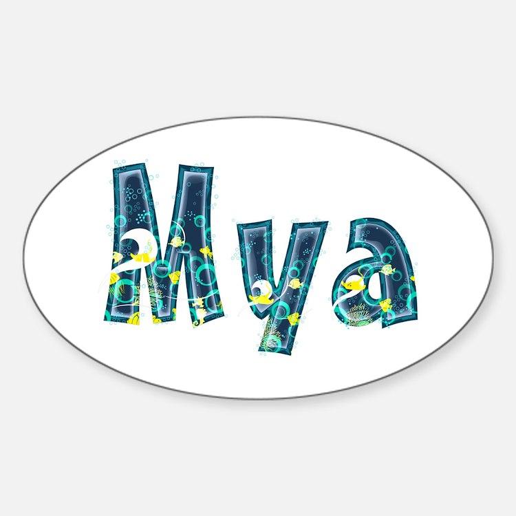 Mya Under Sea Oval Decal