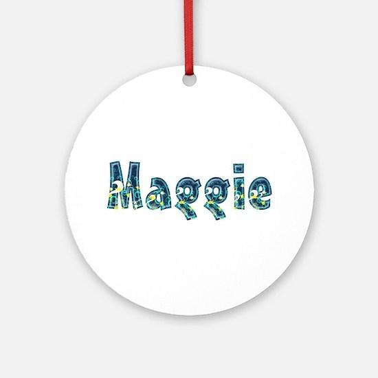 Maggie Under Sea Round Ornament