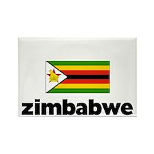 I HEART ZIMBABWE FLAG Rectangle Magnet