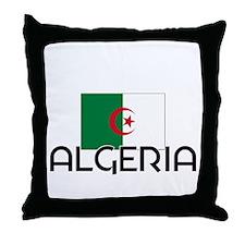 I HEART ALGERIA FLAG Throw Pillow