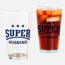 Super Husband (Blue) Drinking Glass
