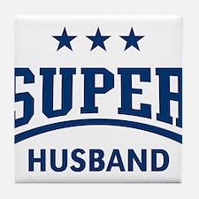 Super Husband (Blue) Tile Coaster