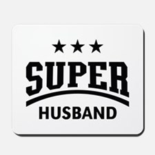 Super Husband (Black) Mousepad