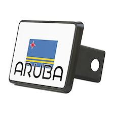 I HEART ARUBA FLAG Hitch Cover