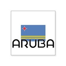 I HEART ARUBA FLAG Sticker