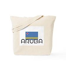 I HEART ARUBA FLAG Tote Bag