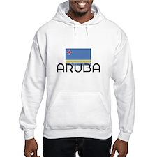 I HEART ARUBA FLAG Hoodie