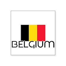 I HEART BELGIUM FLAG Sticker