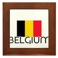 I HEART BELGIUM FLAG Framed Tile