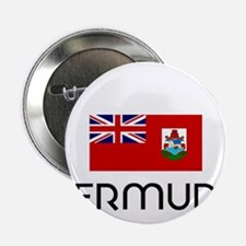 "I HEART BERMUDA FLAG 2.25"" Button"