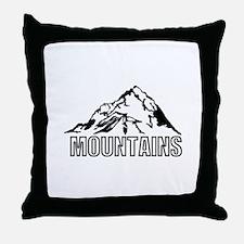mountain rocky climbing Throw Pillow