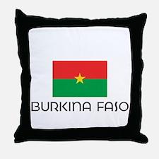 I HEART BURKINA FASO FLAG Throw Pillow