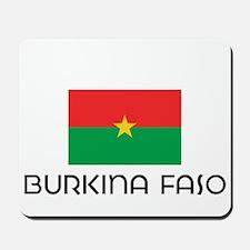 I HEART BURKINA FASO FLAG Mousepad
