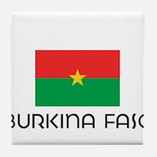 I HEART BURKINA FASO FLAG Tile Coaster