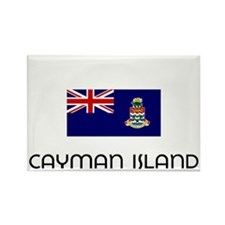 I HEART CAYMAN ISLAND FLAG Rectangle Magnet