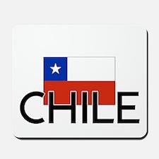 I HEART CHILE FLAG Mousepad