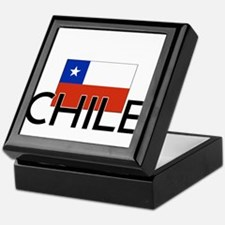 I HEART CHILE FLAG Keepsake Box