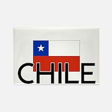 I HEART CHILE FLAG Rectangle Magnet