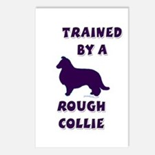 Rough Collie Ppl Postcards (Package of 8)