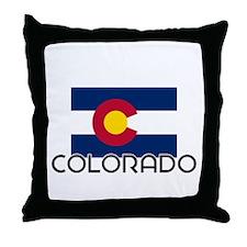 I HEART COLORADO FLAG Throw Pillow