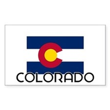 I HEART COLORADO FLAG Decal