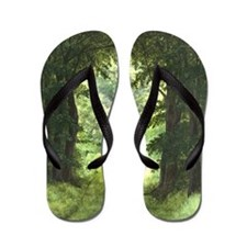 StephanieAM Wood Ray Flip Flops