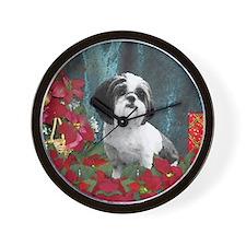 Shih Tzu Valentine China Wall Clock