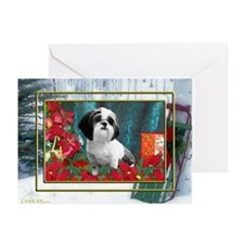 Shih Tzu Valentine China Greeting Cards (Package o