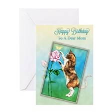 Mom, Birthday card with a cat Greeting Card
