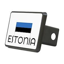I HEART ESTONIA FLAG Hitch Cover