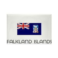 I HEART FALKLAND ISLANDS FLAG Rectangle Magnet