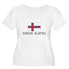 I HEART FAROE ISLANDS FLAG Plus Size T-Shirt