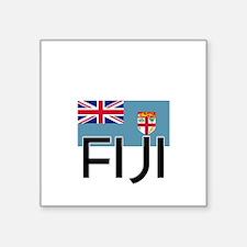 I HEART FIJI FLAG Sticker